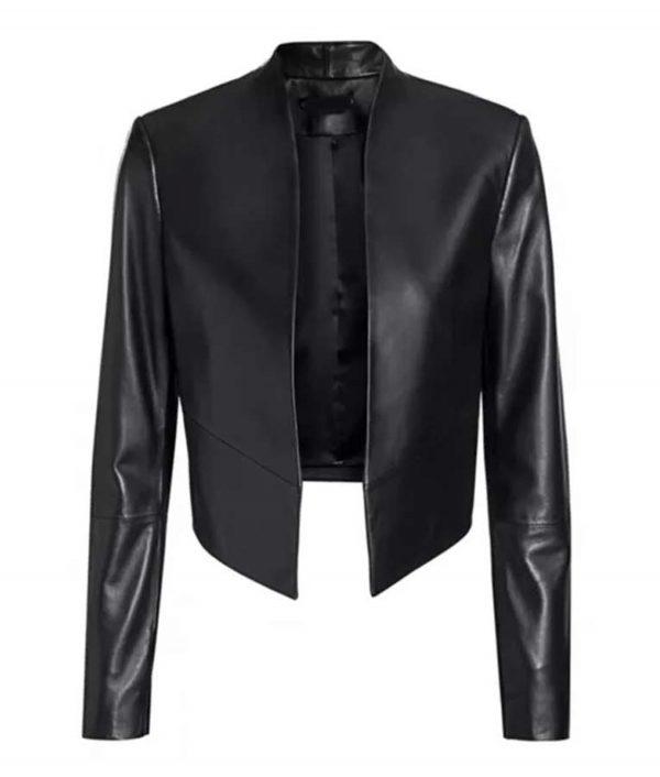 Emily Cooper Emily In Paris Black Leather Jacket
