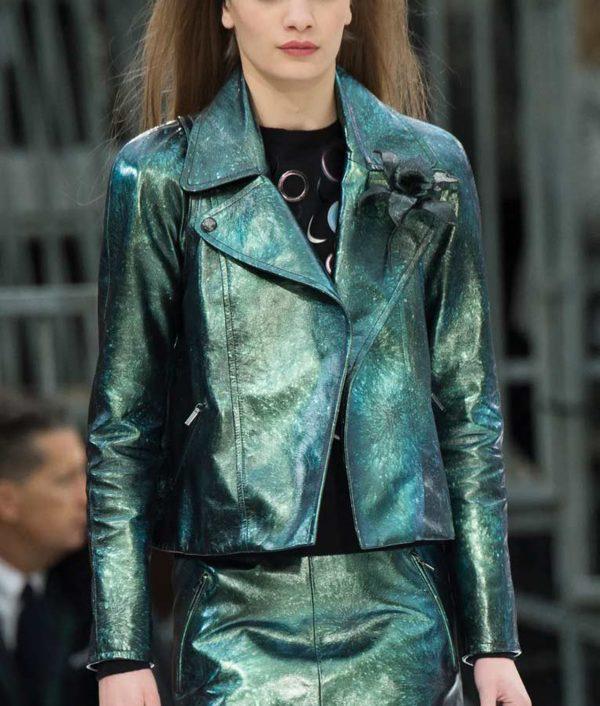 Emily In Paris Emily Green Metallic Jacket