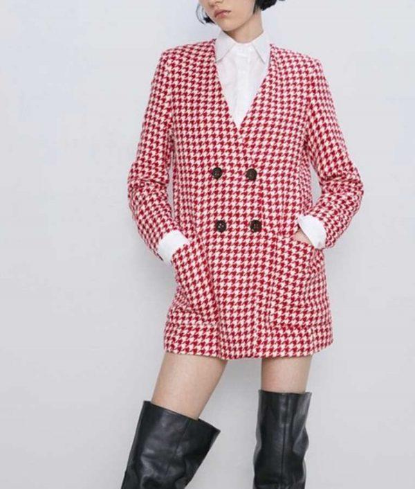 Emily In Paris Houndstooth Coat