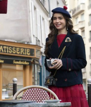 Emily In Paris Lily Collins Peacoat