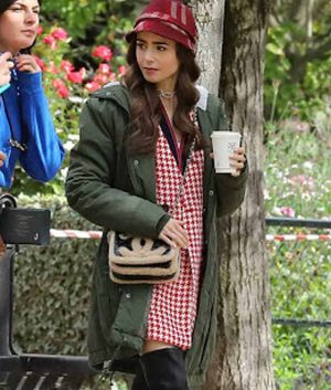 Emily In Paris Lily Collins Green Jacket
