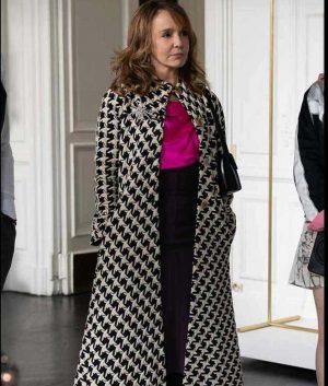 Emily In Paris Philippine Leroy-Beaulieu Checkered Cloak Coat