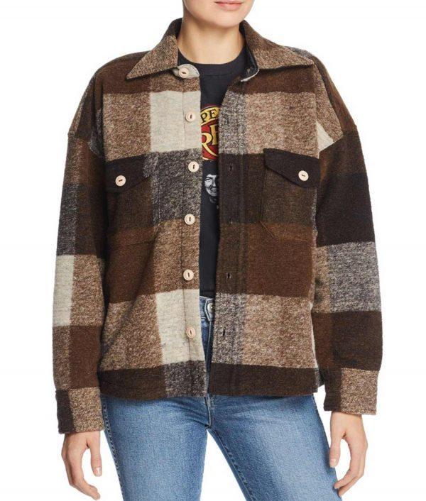 Emma Roberts Holidate Sloane Brown Coat