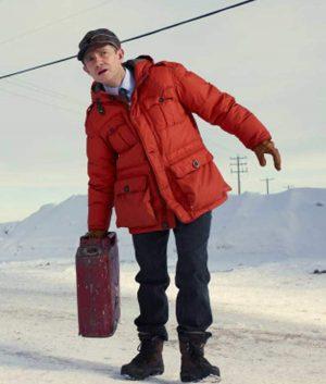Martin Freeman Fargo Lester Nygaard Red Parachute Jacket