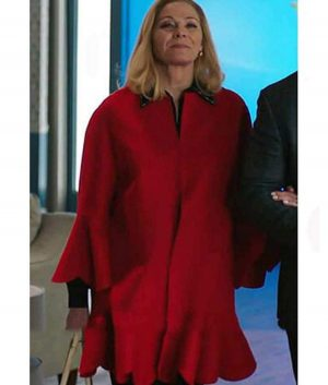 Filthy Rich Kim Cattrall Coat