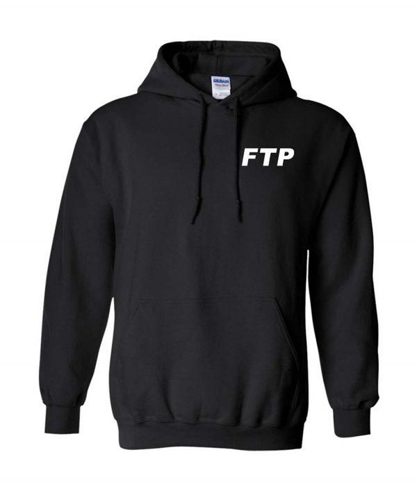 Ftp Logo Black Pullover Unisex Hoodie