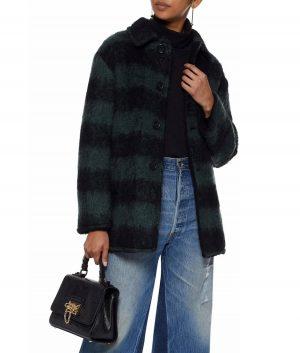 Emma Roberts Holidate 2020 Sloane Plaid Coat
