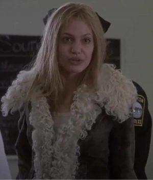 Interrupted Angelina Jolie Lisa Shearling Coat