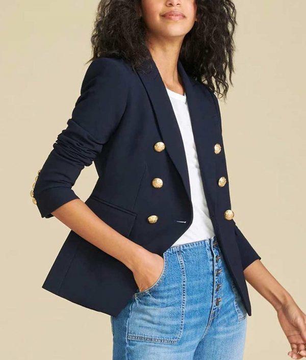 Jenna Bush Hager Navy Blue I Heart NY Blazer
