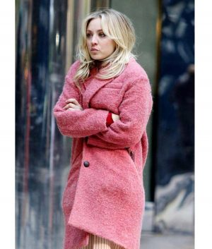 Kaley Cuoco The Flight Attendant Cassie Pink Trench Coat