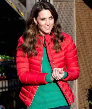 Kate Middleton Christmas Red Jacket