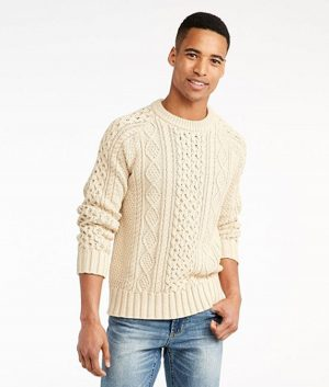 Chris Evans Classic Cable-Knit Sweater