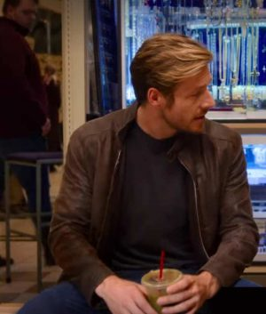 Luke Bracey Holidate Jackson Brown Leather Jacket