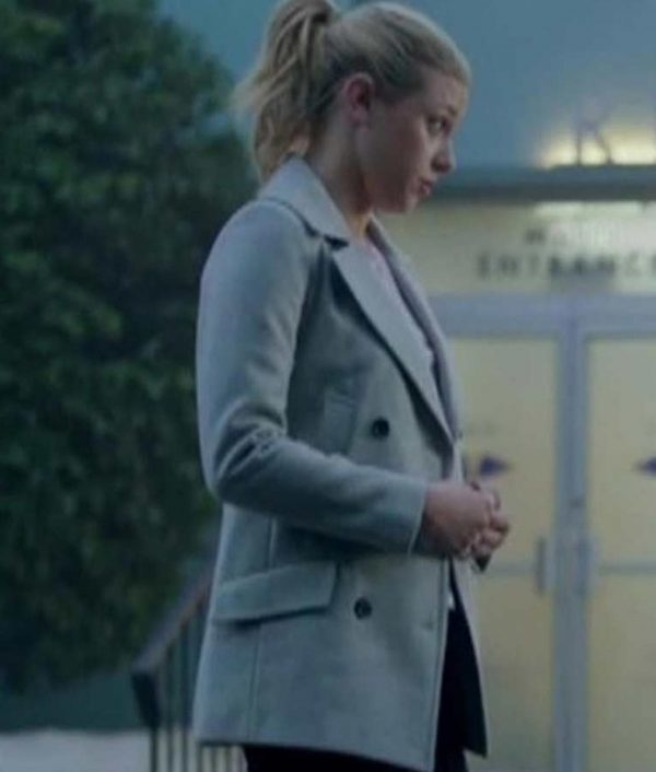 Riverdale S02 Betty Cooper Grey Double-Breasted Coat