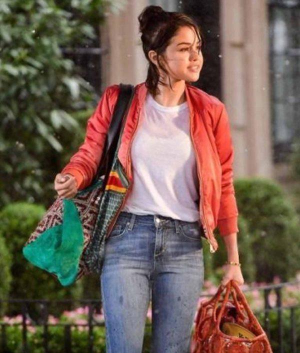 Selena Gomez A Rainy Day in New York Chan Jacket