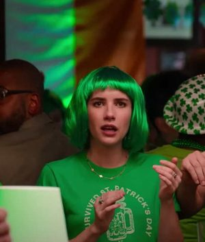 Holidate 2020 Emma Roberts Green T-Shirt