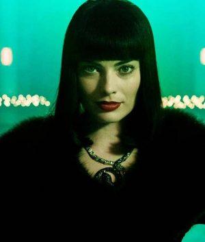 Margot Robbie Terminal Annie Black Faux Fur Coat