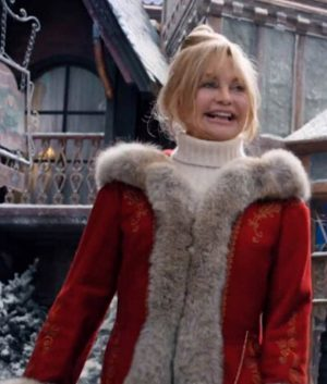 The Christmas Chronicles 2 Mrs. Claus Goldie Hawn Long Coat