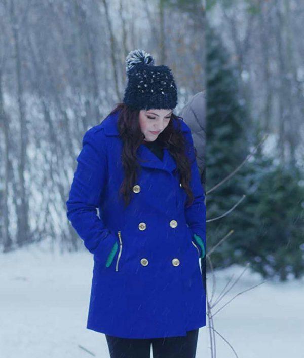 Julia Rogers Double-Breasted The Christmas Listing Lexi Giovagnoli Blue Coat
