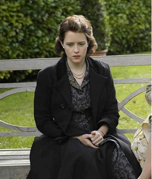 Queen Elizabeth II The Crown S04 Claire Foy Black Trench Coat