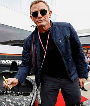 007 James Bond No Time To Die Daniel Craig Blue Jacket
