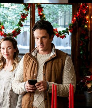 Jon Prescott A Very Charming Christmas Town Sawyer Larsen Brown Vest
