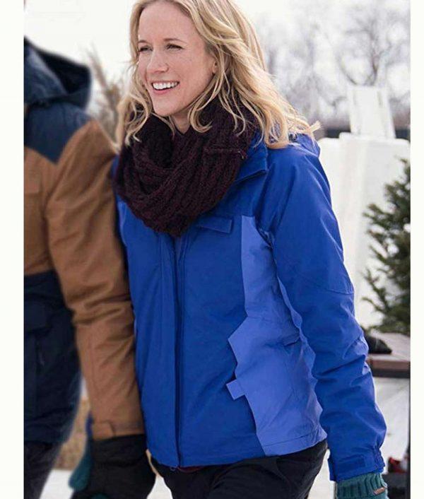 Amazing Winter Romance Jessy Schram Jacket With Hood