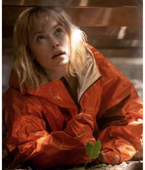 Daisy Ridley Chaos Walking Viola Eade Orange Parachute Jacket