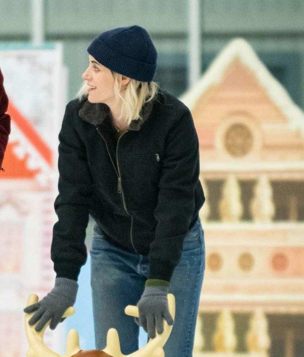 Kristen Stewart Happiest Season Jacket
