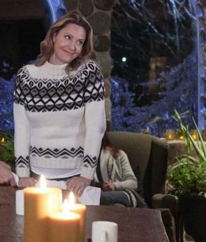 Jill Wagner Hearts of Winter Bethany Cain Sweater