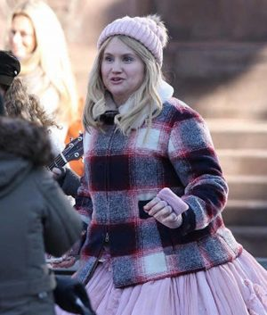 Jillian Bell Godmothered Eleanor Jacket With Shearling Collar