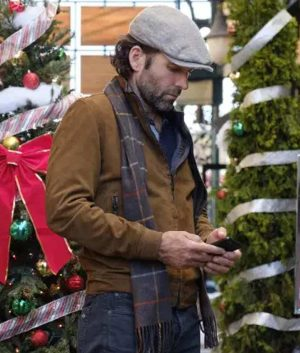 Josh Deliver by Christmas Eion Bailey Suede Leather Bomber Jacket