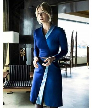 The Flight Attendant Cassie Bowden Wrap Dress