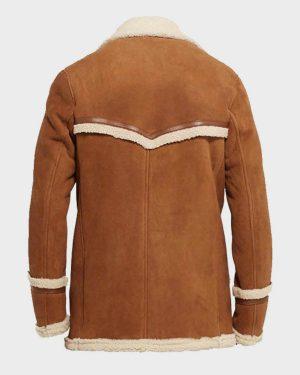 Colin Firth Kingsman The GoldenCircle Harry Hart Brown Fur Jacket