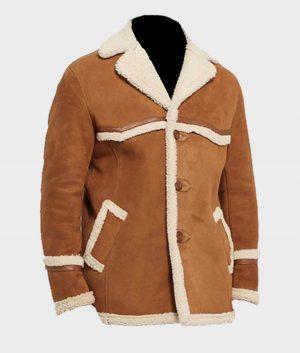 Kingsman Golden Circle Harry Hart Fur Shearling Jacket