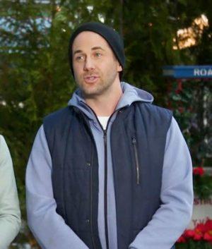 Niall Matter Never Kiss a Man in a Christmas Sweater Vest