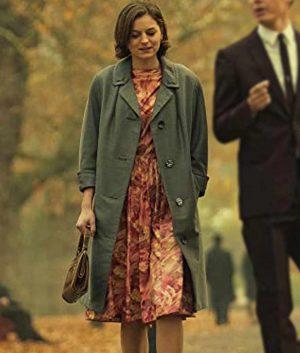 Pennyworth Emma Corrin Grey Mid-Length Coat