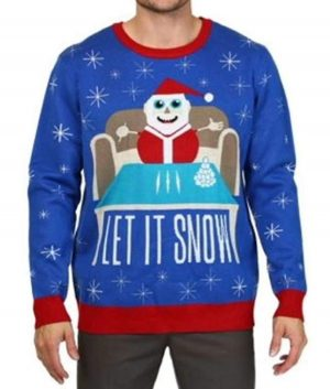 Santa Cocaine Let it Snow Sweater