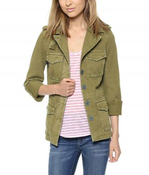 Chicago Fire S09 Kara Killmer Green Military Jacket
