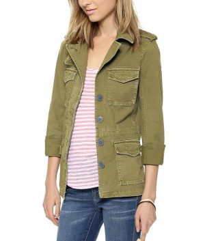 Sylvie Brett Chicago Fire S09 Kara Killmer Green Military Jacket