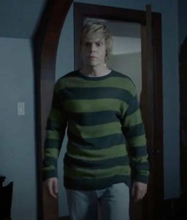 American Horror Story Striped Green Tate Langdon Sweater