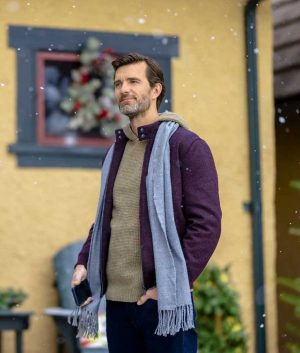Lucas Bryant Purple Wool-blend The Angel Tree Jacket