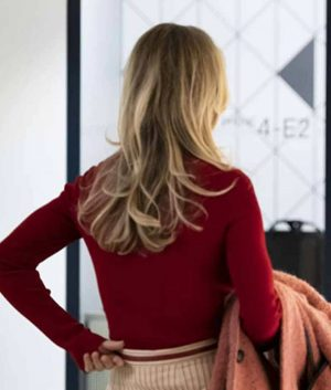 The Flight Attendant Kaley Cuoco Red Sweater