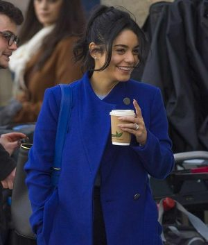 The Princess Switch Switched Again Vanessa Hudgens Blue Coat