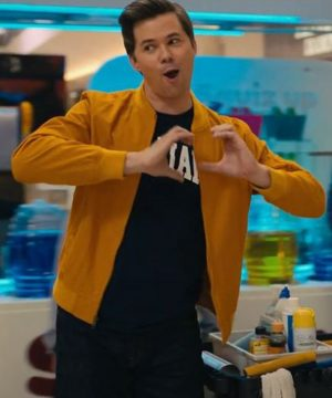 The Prom Andrew Rannells Trent Oliver Bomber Yellow Bomber Jacket