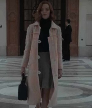 The Queen's Gambit Anya Taylor-Joy Pink Coat