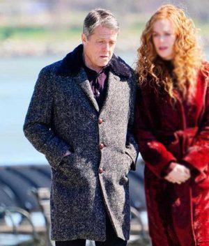 Hugh Grant Grey Wool-Blend The Undoing Jonathan Sachs Coat