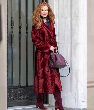 The Undoing Nicole Kidman Grace Sachs Velvet Long Coat