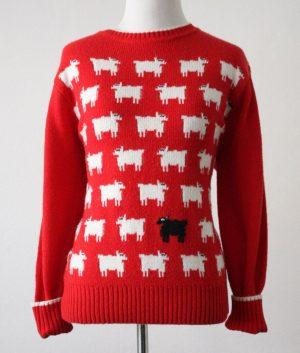 Warm and Wonderful Black Sheep Red Sweater