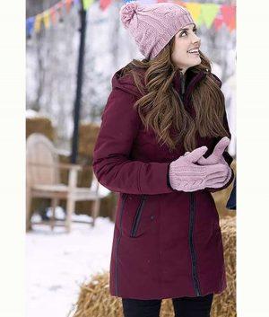 Winter Love Story Jen Lilley Cassie Maroon Coat